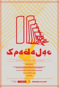 Poster Spadając Marcin Brzozowski Teatr Szwalnia